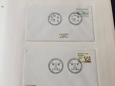 Greenland a selection of FDC first day covers from 1976 - 1978 fine lot