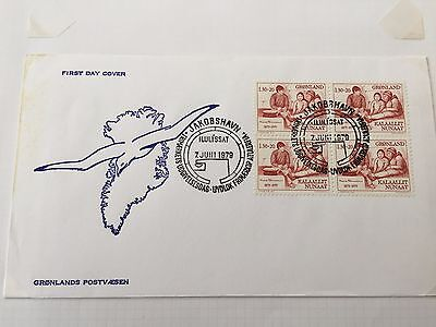 Greenland a selection of FDC first day covers from 1979 - 1980 fine lot