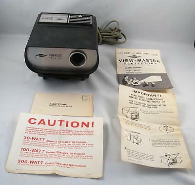 Vintage Sawyers View-Master 300 Custom Projector W/ Instruction  As Is