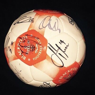 Squad Signed Blackpool Official Football Size 5 2015/2016 Season