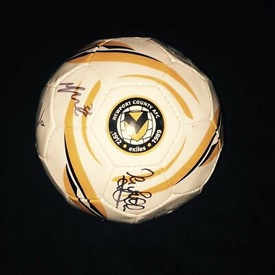 Squad Signed Newport County Official Football Size 5 2015/2016 Season