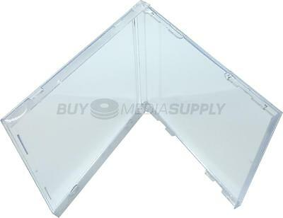 10.4mm Standard CD Jewel Box Replacement (No Tray) - 100 Pack