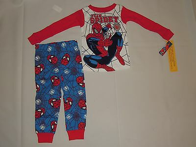 """Marvel Spider-Man Baby Toddler Boy Pajamas Set Outfit """"Team Spidey"""" Size 24M, 3T"""