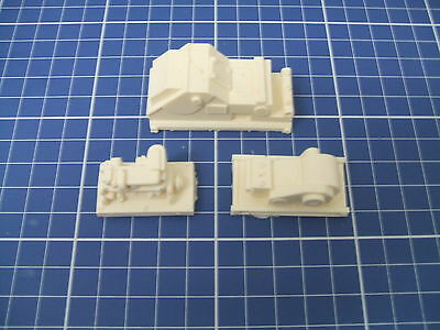 """1/87  """"ho"""" Scale Resin Detail Parts - Lot Of 3 Industrial Machinery Load"""