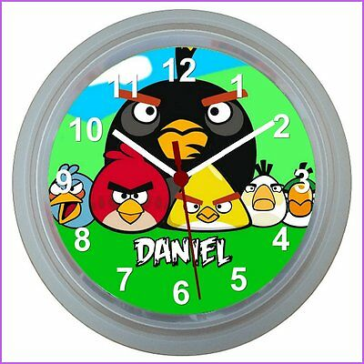 Personalised ANGRY BIRDS WALL CLOCK