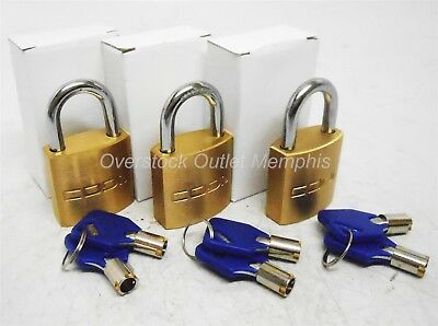CODi Master Key Brass System Security Padlock 3-Pack Unique Keyed
