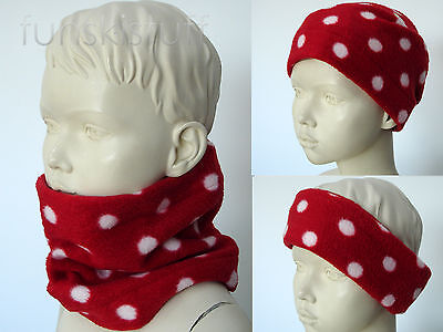 Infant baby girl RED ladybird BLACK DOT SPOT NECK WARMER toddler scarf snood ski
