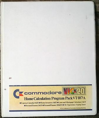 VIC 20 Commodore Home Calculation Program Pack 6 Cassettes Tapes Untested RARE!!