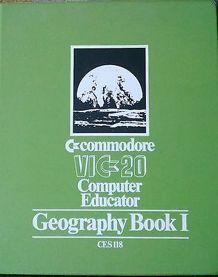 VIC 20 Commodore Computer Educator Geography 6 Cassettes Tapes Untested Rare!