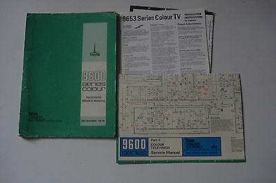 Thorn 9600 Series  Colour Television  Service Manual