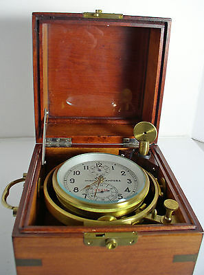 Marine Ships Chronometer Russian, Kirov, First Moscow Watch Co.
