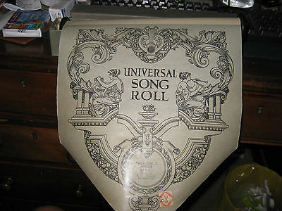 Pianola / Player Piano UNIVERSAL SONG Music Roll - 'ABSENT' - Boosey Metcalf