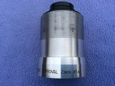 + Superb Bell & Howell 2 Inch f1.4 Super Proval D 16mm Projection Coated Lens  +