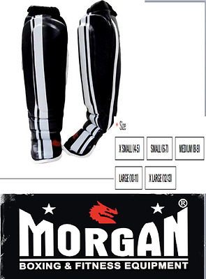 MORGAN V2 PROFESSIONAL MMA SHIN & INSTEP guards MMA MUAY THAI XS S M L XL MENS