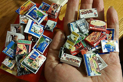 FOOD ONLY Kitchen Freezer Food Delights Accessories 9pc Dollhouse 1:12 Miniature