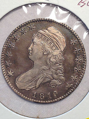1819 50c O 109 US Capped Bust lettered edge XF