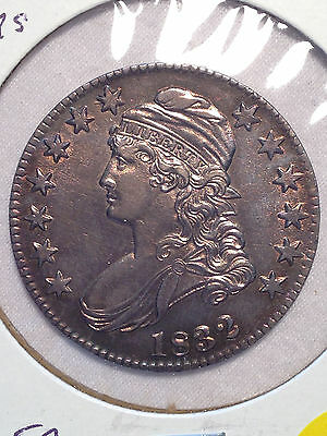 1832 50c O 119 small letters R4 US Capped Bust  Ch AU