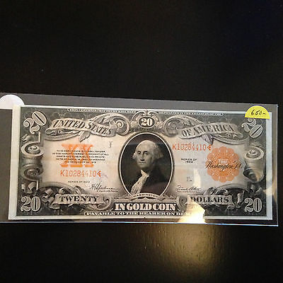 US Series 1922 $20 Gold Certificate