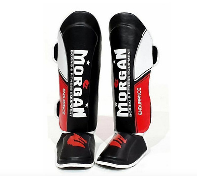 MORGAN ENDURANCE MMA SHIN & INSTEP guards MMA MUAY THAI  S M L XL MENS NEW PAIR