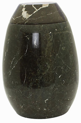 Cremation Urn for Ashes, Marble Stone Funeral Memorial Outdoor Garden - Black
