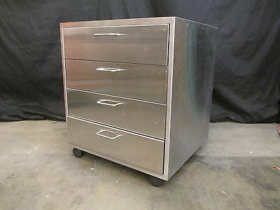 Industrial Stainless Steel Set of Four Drawers 24 In. x 21 1/2 In. x 25 1/4 In.