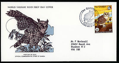 Wwfdcs Fdc 1978 Gambia  Topical Birds Of Prey Wwf Cover Abuko Nature Reserve