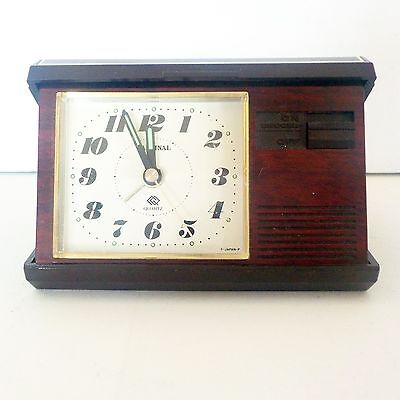 Cardinal Travel Alarm Clock Quartz Vintage from Japan Work with one Battery AAA