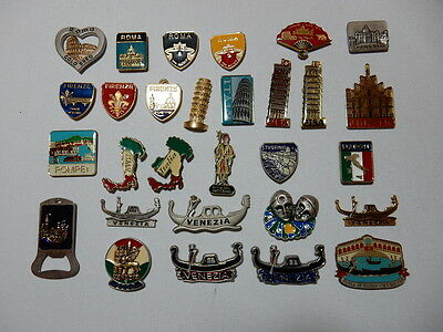 One Selected Metal Souvenir Fridge Magnet from Italy