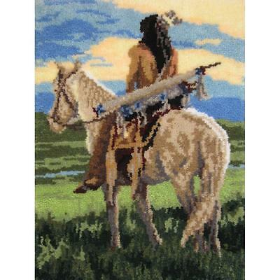 """Curious Horse Latch Hook Rug Kit 26.5"""" x 35"""" By MCG Textiles 37689 NEW"""