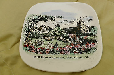Brighstone Tea Gardens Isle of Wight Lord Nelson pottery dish plate