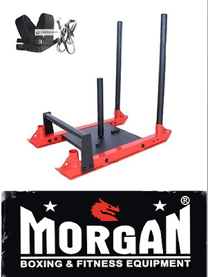 TOWER sled fitness CROSSFIT HARNESS PROWLER MORGAN STRONGMAN OLYMPIC WEIGHTS