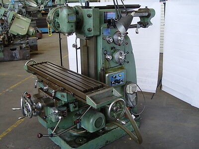 Milling Machine 1200 mm x 270 mm table - Toolroom mill with vertical head.