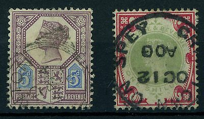 Great Britain Vg Qv 2 Used 1887 - 1900 Incl: #118A Vg -F #126 Vg