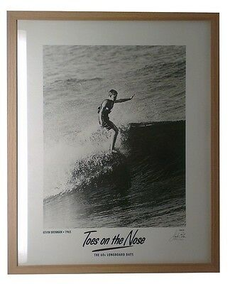 Framed Surfing Limited Edition Jack Eden Prints Toes On The Nose
