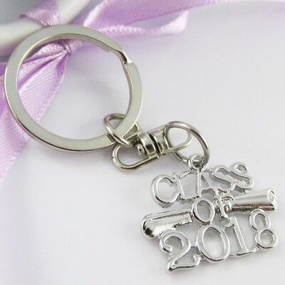Class of 2018 Graduation Charm Keychain Bag Tag 69mm Student Keepsake Gift!