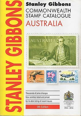 STANLY GIBBONS 2014 COMMONWEALTH AUSTRALIA STAMP CATALOGUE 9th EDITION USED