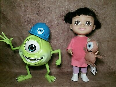 Disney Pixar Monsters Inc Talking baby Doll Peek A Boo With Mikey Mike Singing