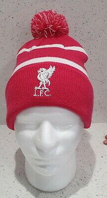 Liverpool Official Brand 47 Range Bobble Hat - Pink and White Stripe -Adult Size