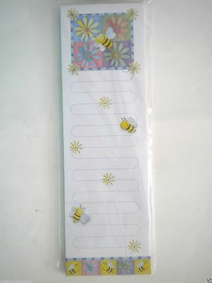 COLOURFUL SPRING FLOWERS MAGNETIC MEMO PAD ~ 60 Sheets