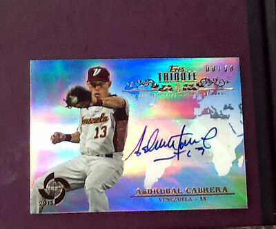 2013 Topps Tribute World Baseball Classic x4 cards Certified Auto Card
