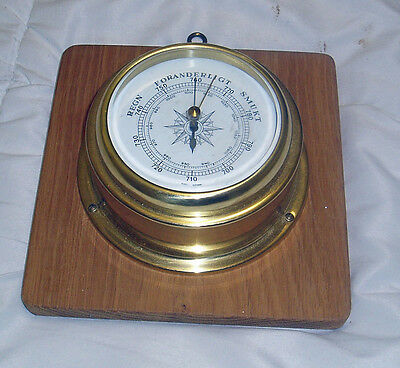 German Made Maritime Brass Ships Barometer In Working Condition