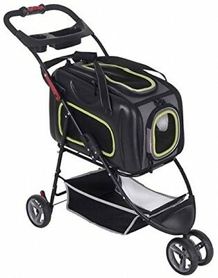 Versatile Pet Stroller Dog Buggy Practical Outing Strollers Pushing Pets Dogs