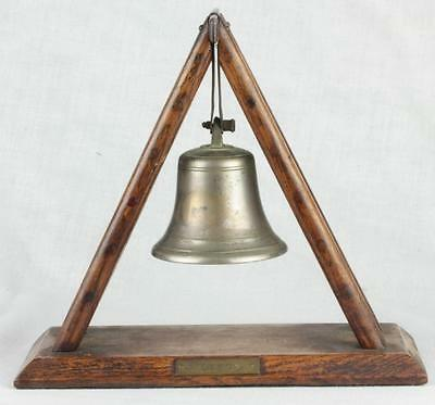 Antique Registry Patent Model of Fire Bell Salesman Sample Early 1900s English