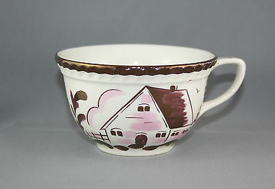 Vintage Gray's Pottery Cup Stoke On Trent Lustre Ware Pink Flowers House