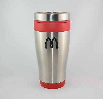 McDonald's Maple Leaf  Stainless Steel Travel Mug Red Canada 2011 NEW by Bullet