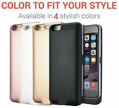 "iPhone 6 /6s/7, Display:4.7"" External 3000mAh Battery Backup Charger Case Cover"
