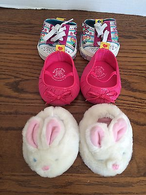 BABW Build A Bear Workshop Girls Shoe Lot Slippers Pink Shoes Multi Tennis Shoes
