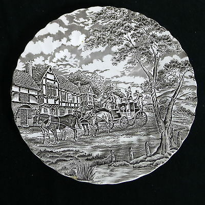 """One Vintage MYOTT Royal Mail Brown 10"""" Dinner Plate Staffordshire England as is"""