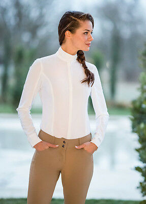 NEW Goode Rider Ladies Pro Show Shirt Long Sleeve - White - XS, M, L, XL
