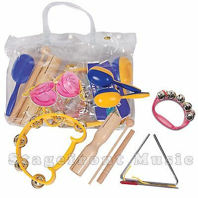 Cpk 6 Piece Percussion Set Complete With Durable Plastic Carry Bag - Ed943